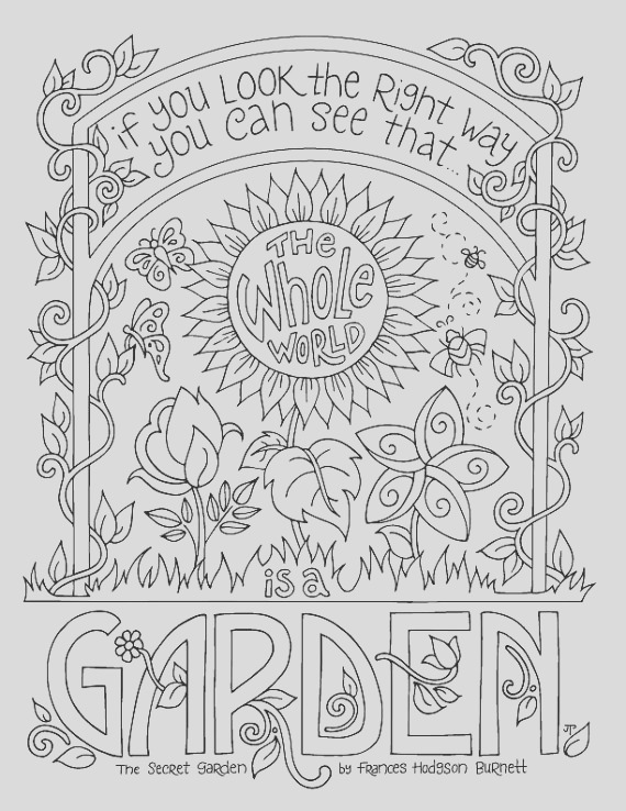 secret garden coloring page frances