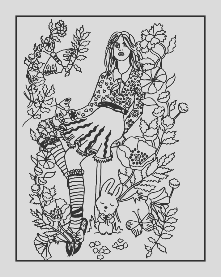 Your Secret Garden Coloring Book Page