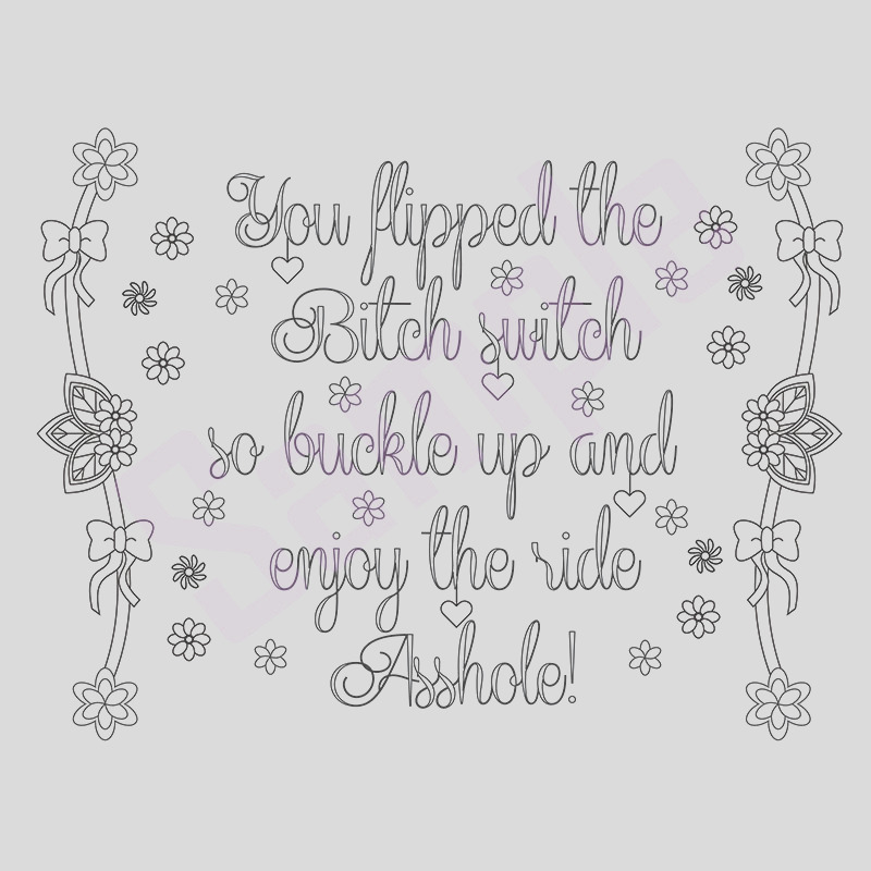 sweary coloring page buckle up swearing