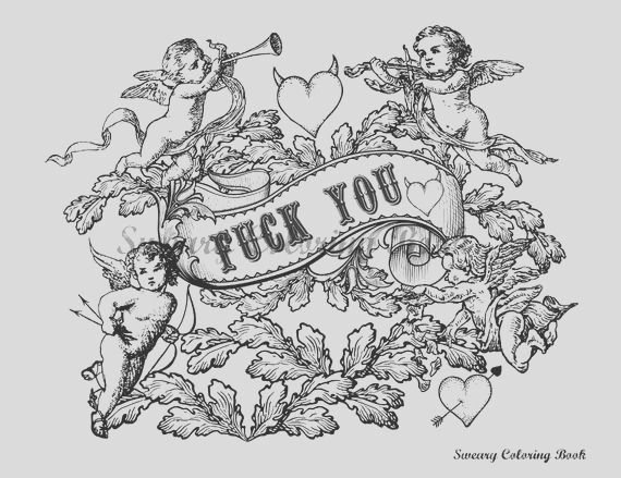 fuck you swear words coloring page from