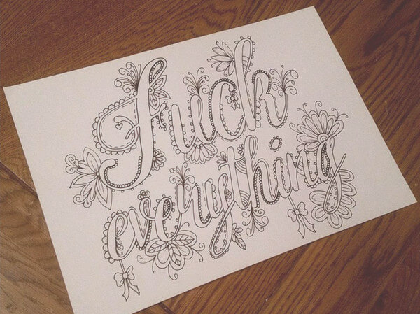 adult swearing coloring book