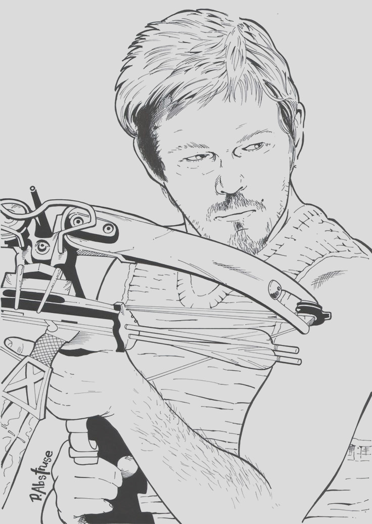 coloring pages the walking dead