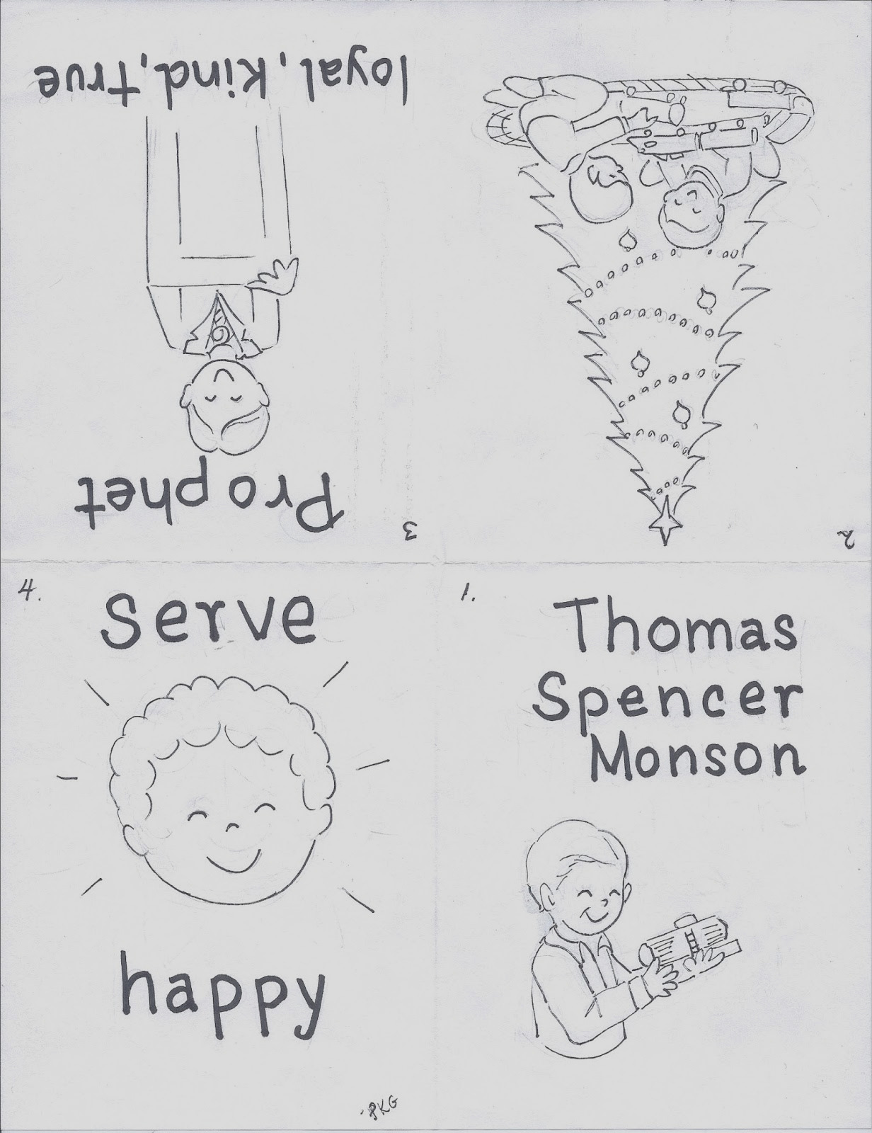 thomas s monson coloring page