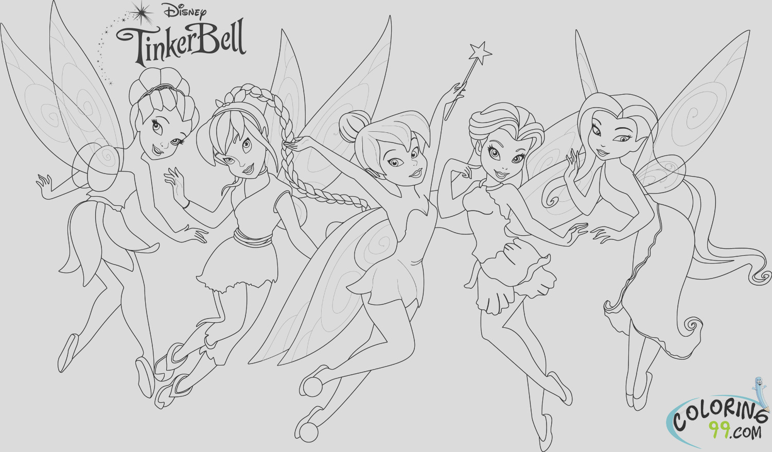 tinkerbell and friends coloring pages