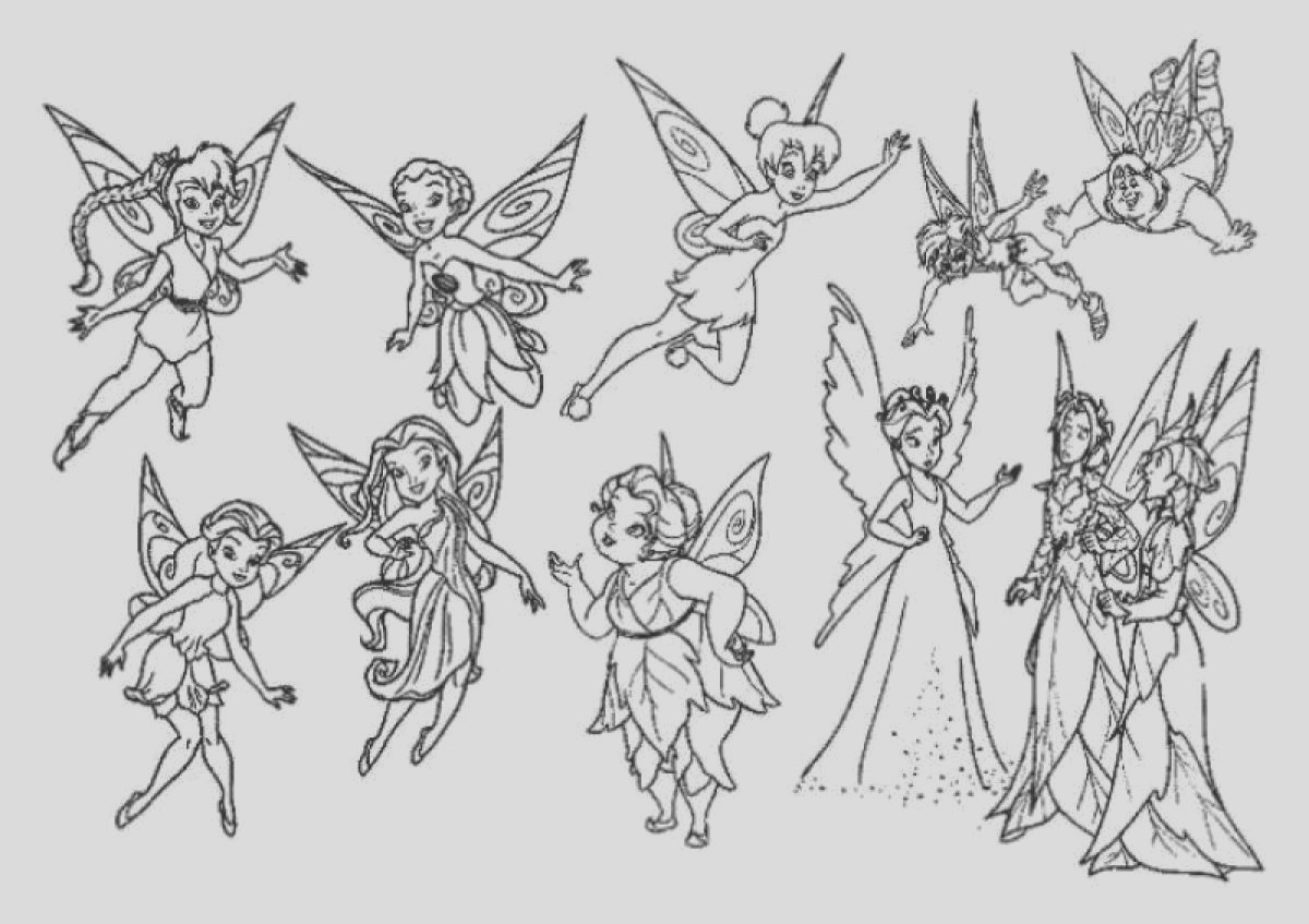 tinkerbell coloring pages and clip art