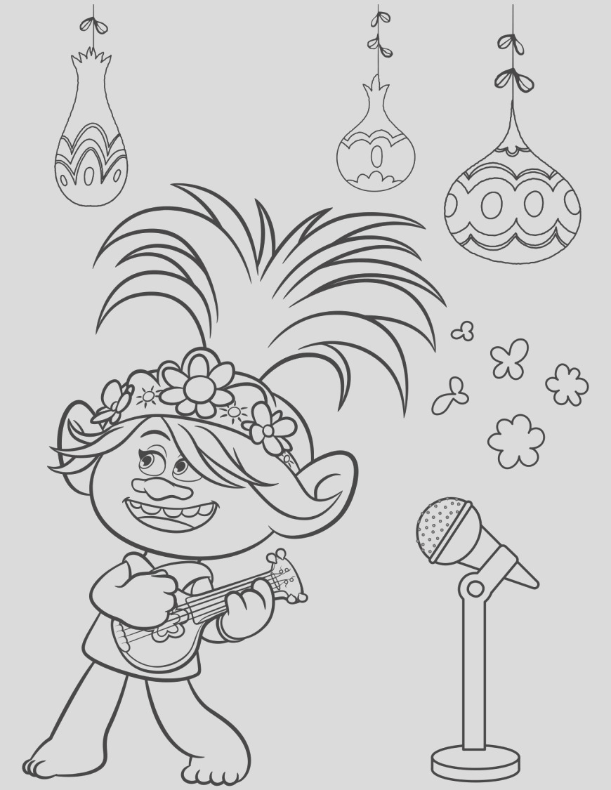 1187 trolls world tour coloring pages