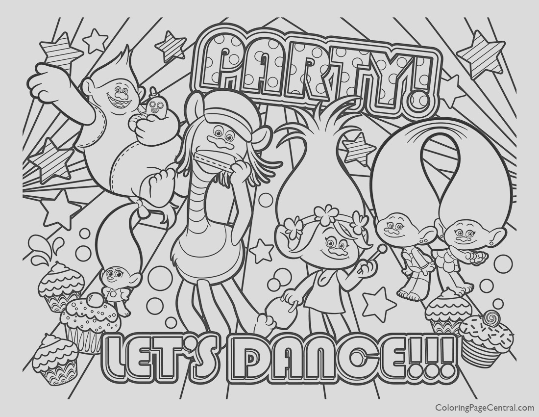 trolls coloring page 01