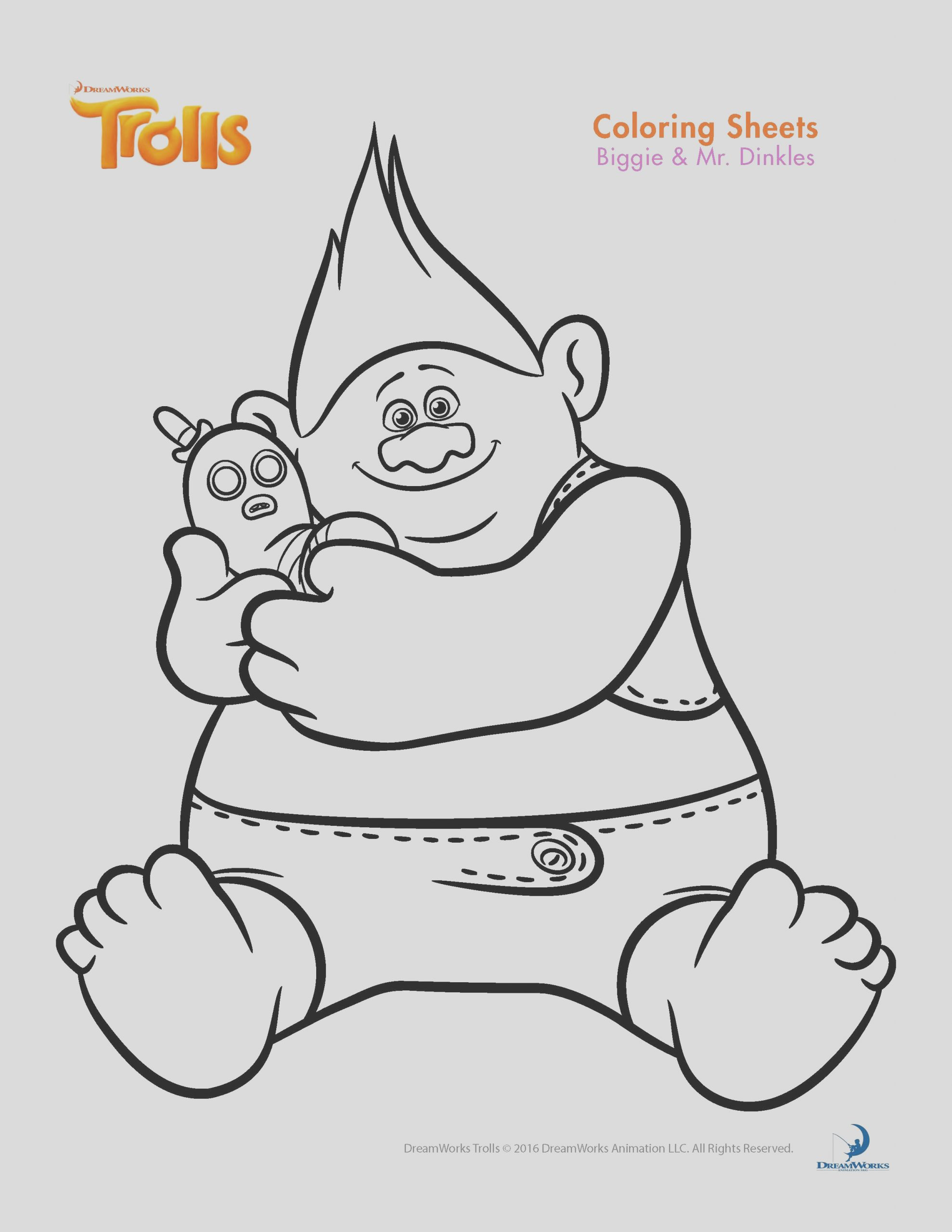 trolls coloring sheets