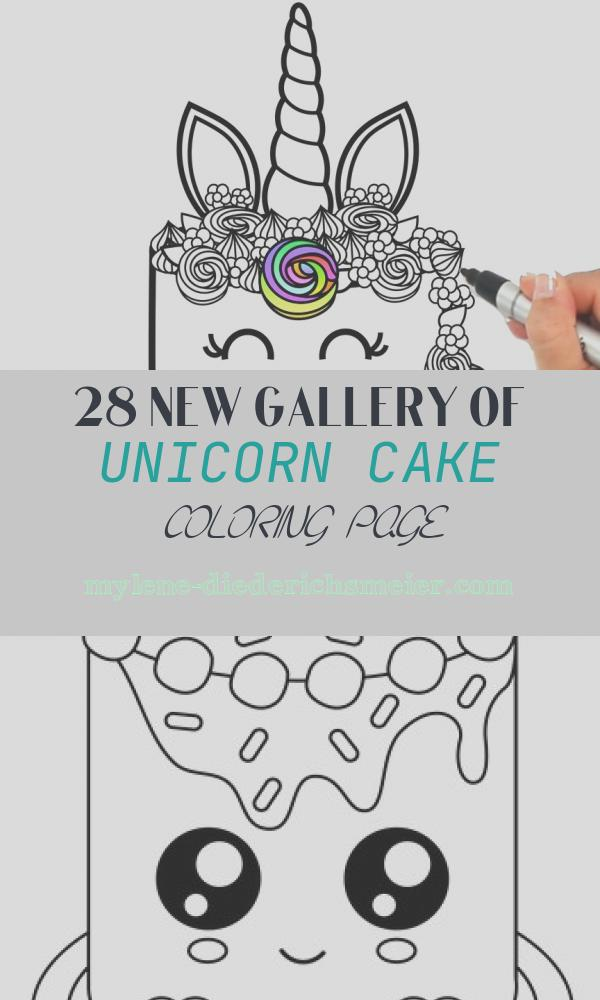 Unicorn Cake Coloring Page Beautiful How to Draw A Unicorn Cake for Kids