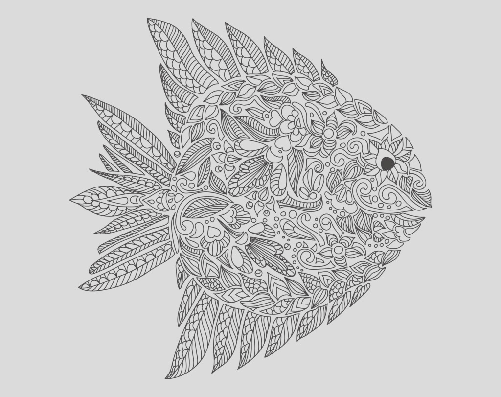 coloring adult zentangle fish by artnataliia dans water worlds free fish coloring pages for adults fish coloring pages for adults
