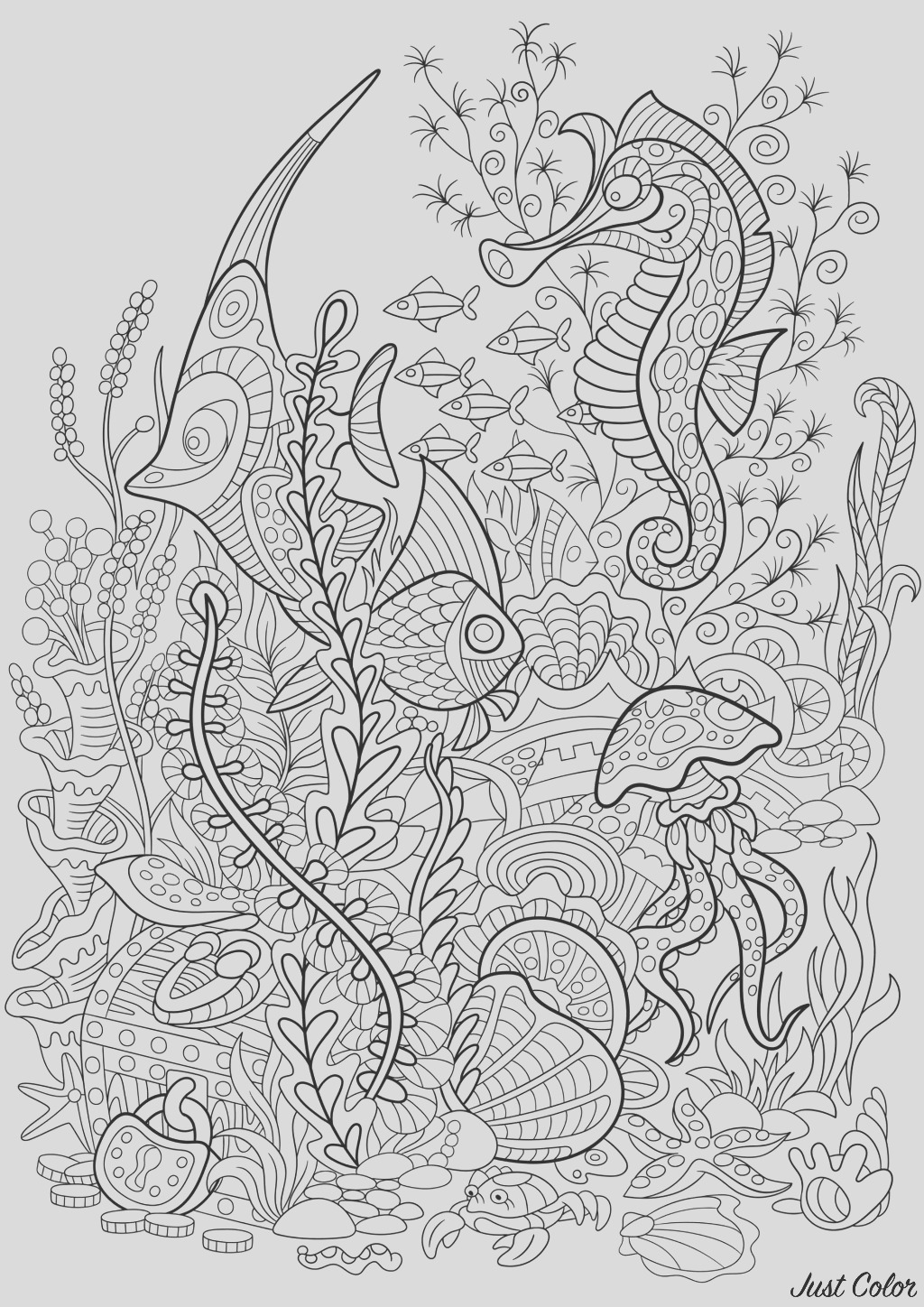 image=water worlds coloring seaworld fish sea horse 1
