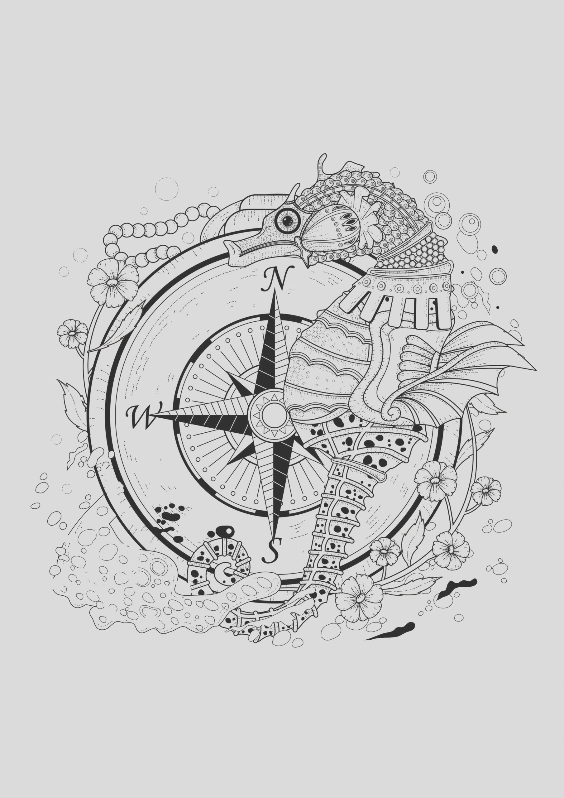 image=water worlds coloring page adults sea seahorse 1