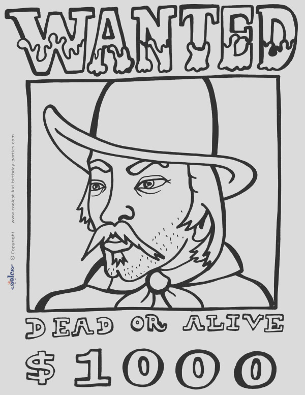 printable western coloring pages