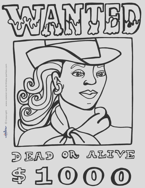 western town coloring pages
