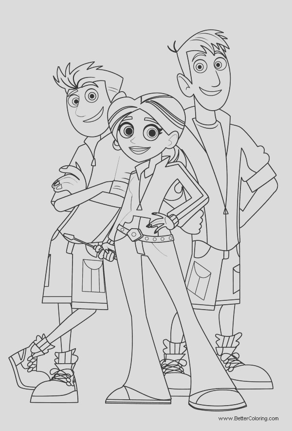 wild kratts characters coloring pages
