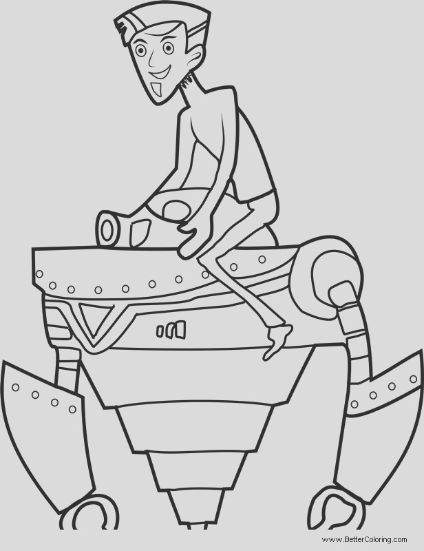 wild kratts coloring pages zachbots
