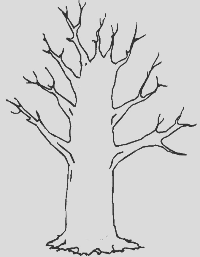 winter tree silhouette clip art