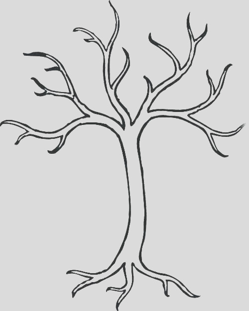 winter tree coloring page