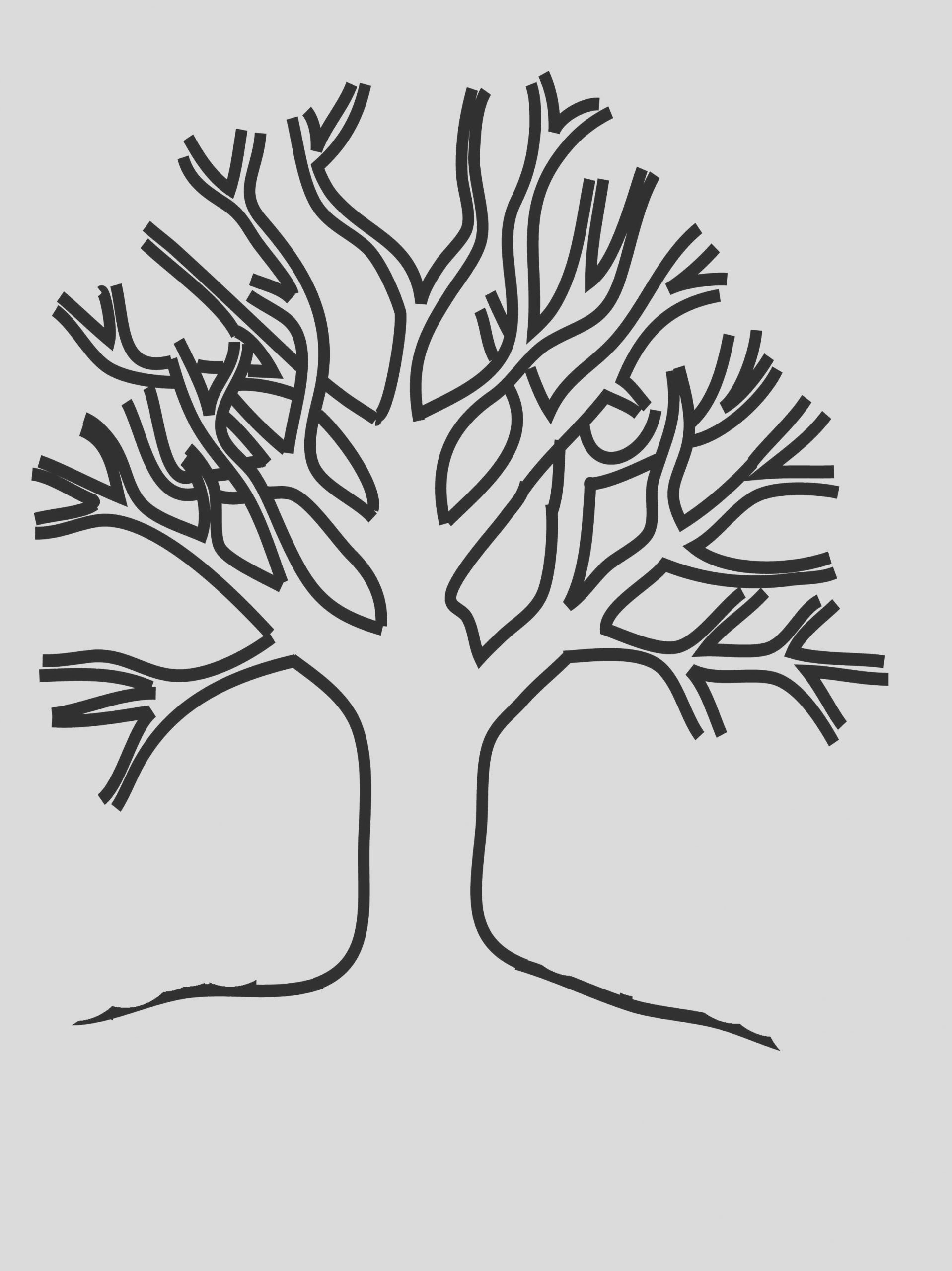 winter tree drawing