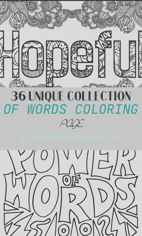 Words Coloring Page Awesome Hopeful Positive Word Coloring Book Printable Coloring