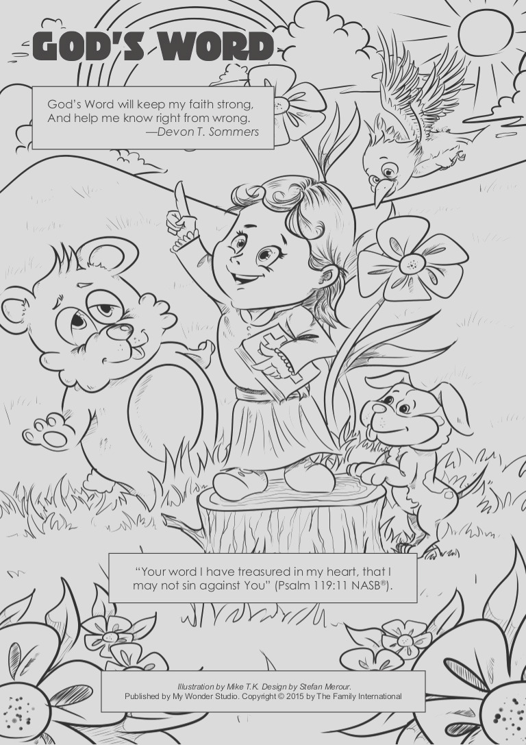 291 coloring page gods word
