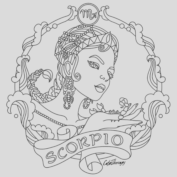 zodiac coloring pages for adults