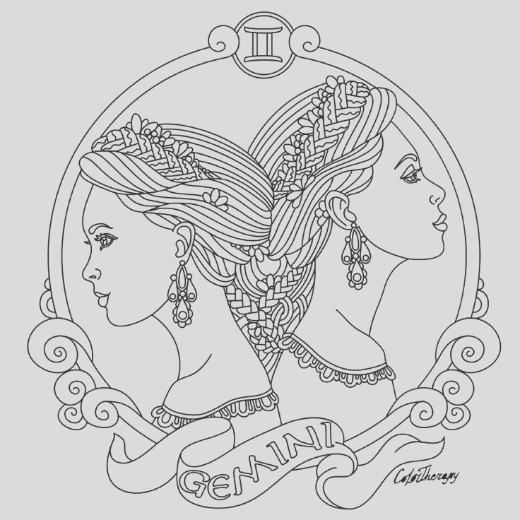 zodiac signs coloring pages