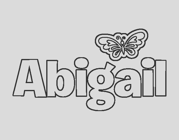 abigail name coloring pages sketch templates