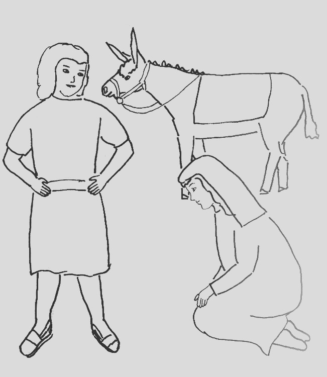 bible story coloring page for david and abigail