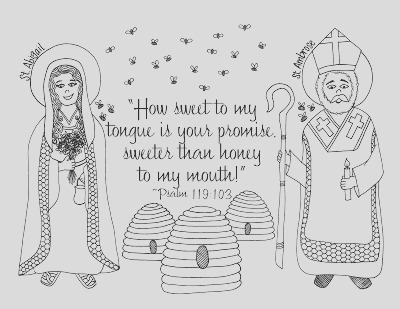 st ambrose and st abigail coloring pages