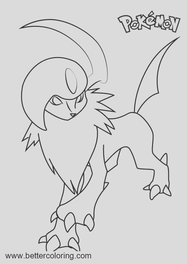 absol pokemon coloring page printable pokemon coloring pages