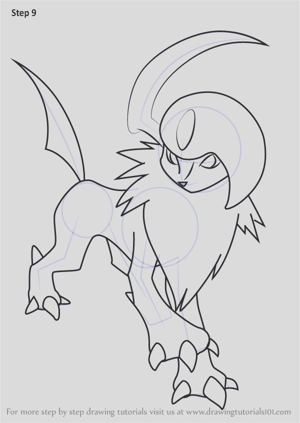 how to draw absol from pokemon