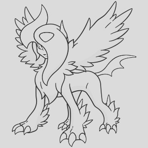 absol coloring pages sketch templates