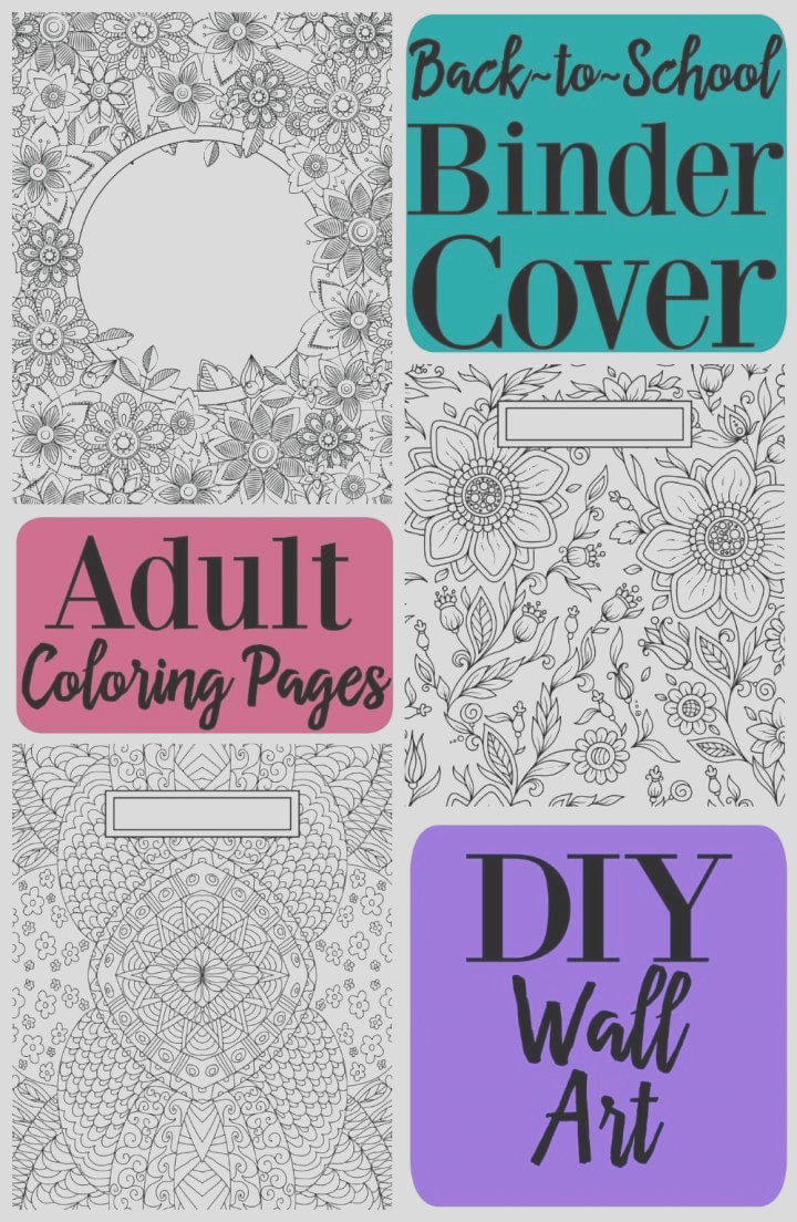 back to school binder cover adult coloring pages