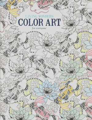 bkla201 color art living wonders adult coloring book