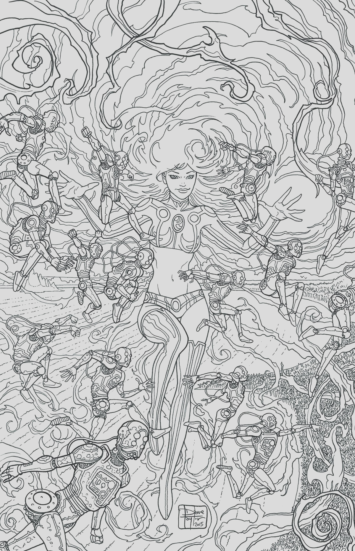 starfire 8 adult coloring book cover
