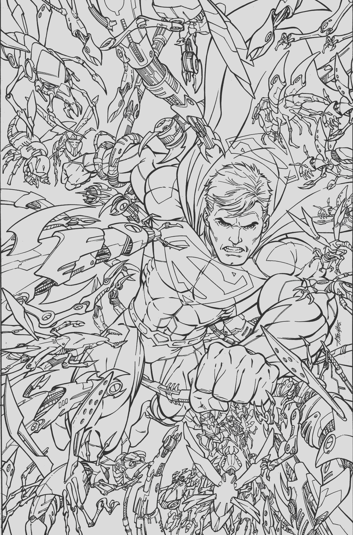 superman 48 adult coloring book cover