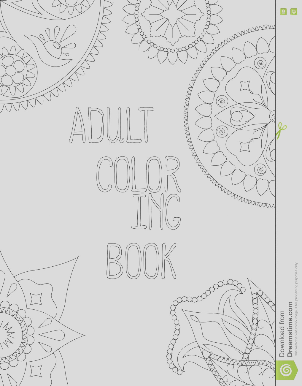 stock illustration adult coloring book cover vertical vector illustration mandala hand written text page indian arabic image