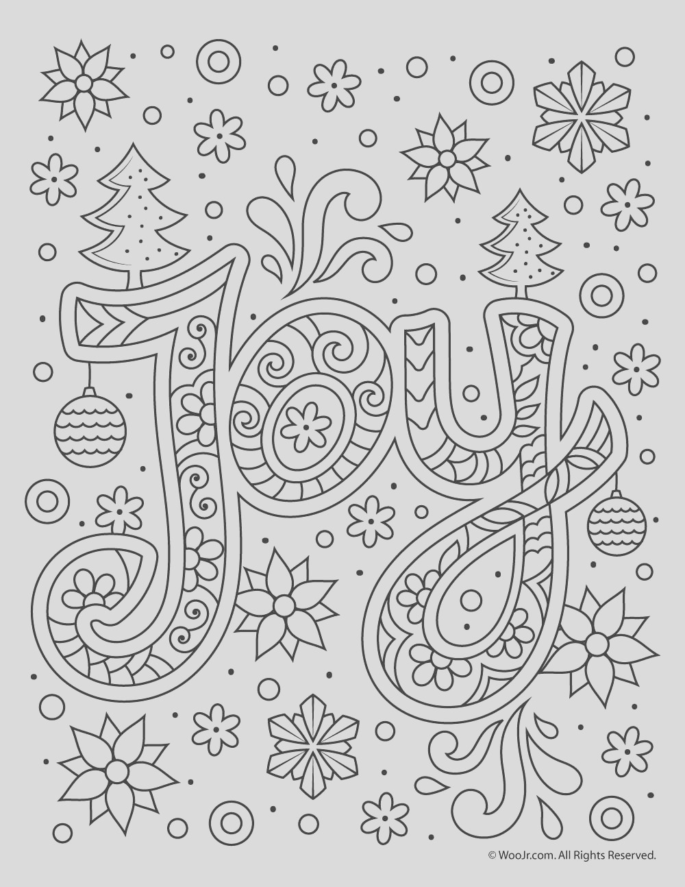 christmas adult coloring joy