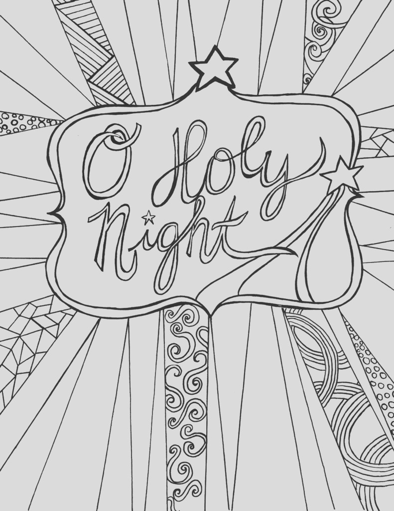 free adult coloring page christmas