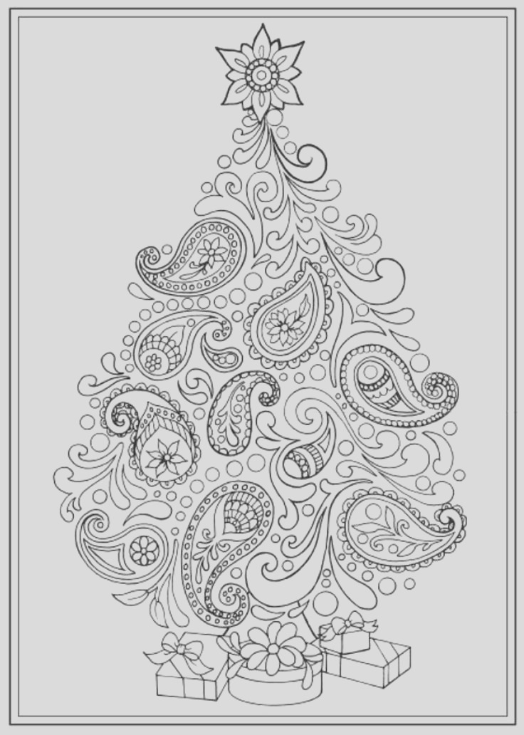 adult coloring pages christmas trees
