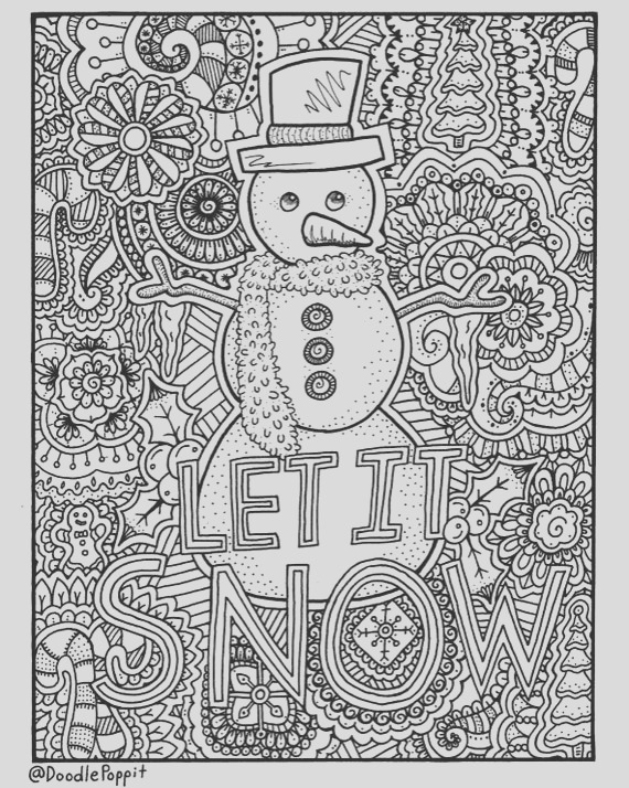 christmas coloring page coloring book