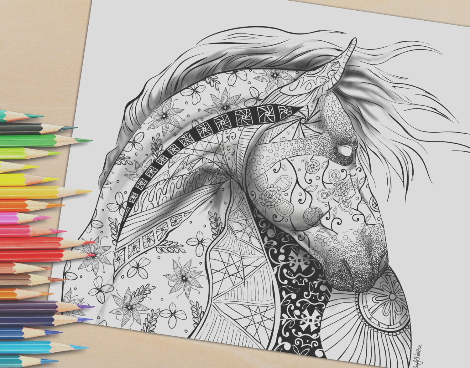 adult coloring page from coloring book