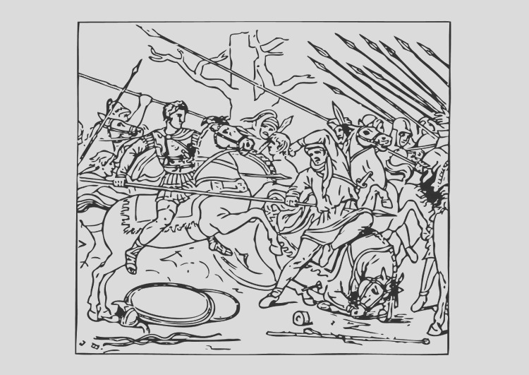 coloring page alexander defeats the persians i