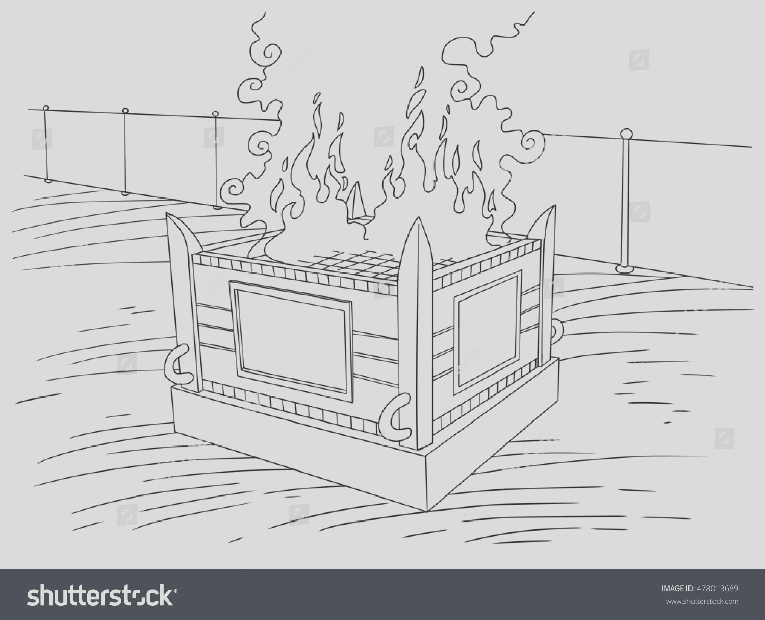 stock photo the altar of burnt offerings
