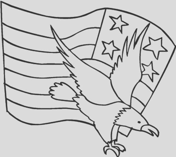 american eagle and flag day coloring pages
