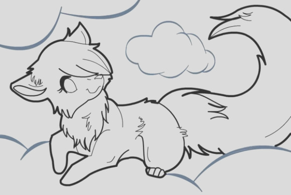 Anime wolf coloring pages 580x389