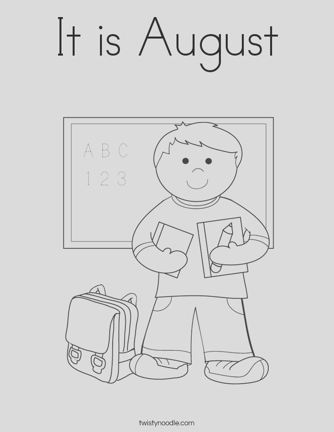 it is august 3 coloring page