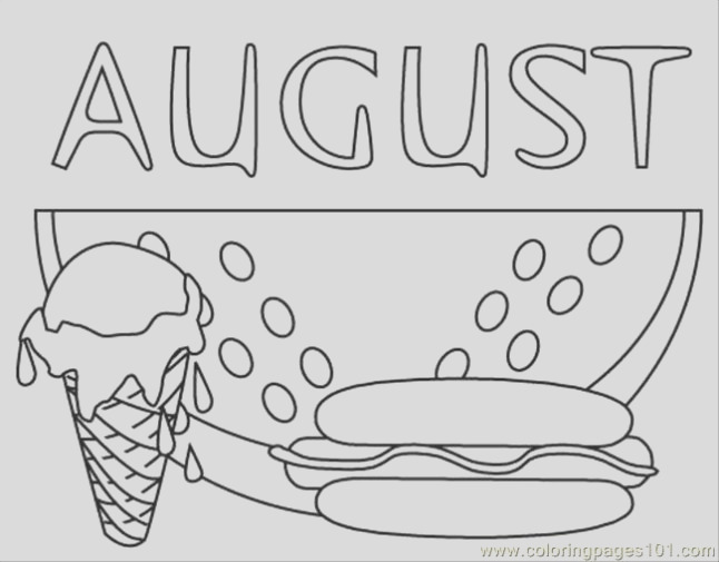 august coloring pages 2017
