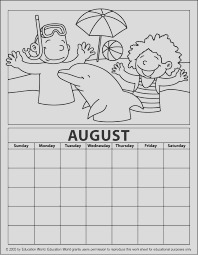 printable calendar coloring pages for kids